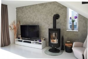 abx 8kw arktis wood burning stove external air option